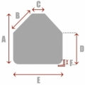 Rounded Square/Rectangle with 2 Cut Corners - Spa Cover