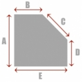 Square/Rectangle with 1 Cut Corner A
