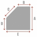 Square/Rectangle with 1 Cut Corner B