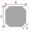 Square/Rectangle with 4 Cut Corners