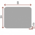 Square/Rectangle Rounded Corners - OVERSIZED