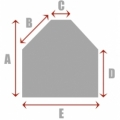 Square/Rectangle with 2 Cut Corners